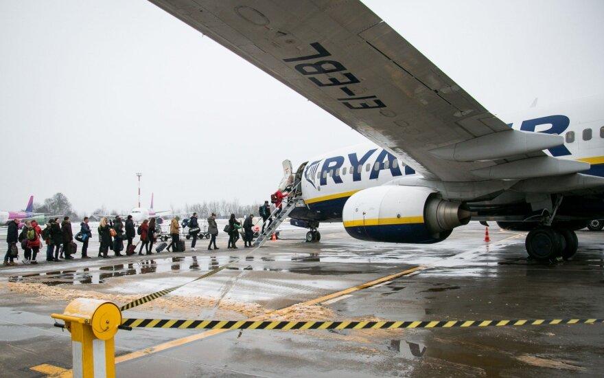 """Krito """"Ryanair"""" bilietų kainos"""