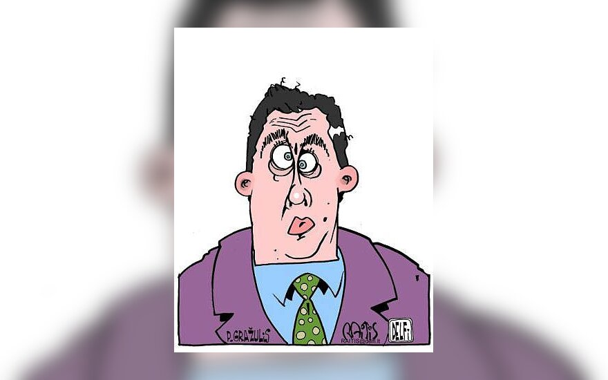 Petras Gražulis - karikatūra
