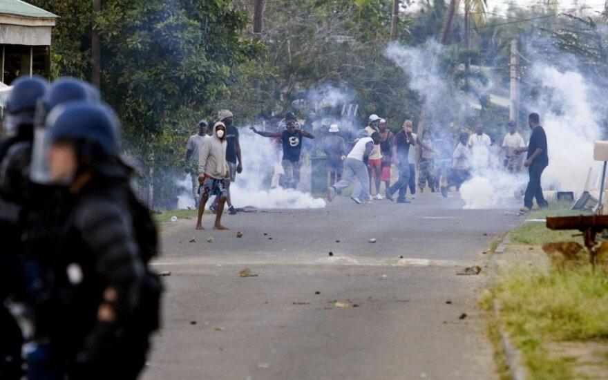 Protestuotojai Martinikoje