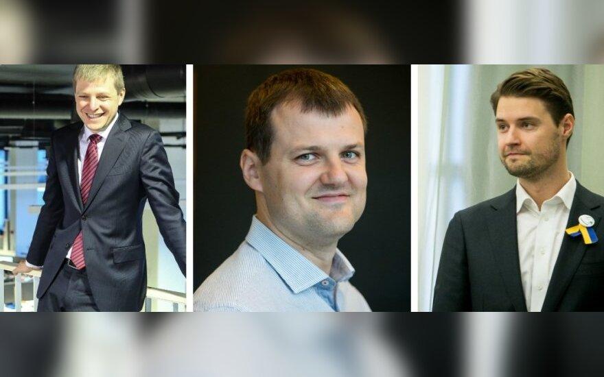 Kandidatai į Vilniaus merus: Remigijus Šimačius, Gintautas Paluckas, Mykolas Majauskas