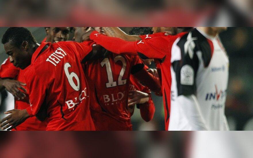 """""""Stade Rennes"""" futbolininkai džiaugiasi pergale"""