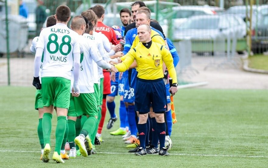 Lietuvos futbolo lygos aštuntame ture akis į akį susidurs keturios pirmo penketo komandos