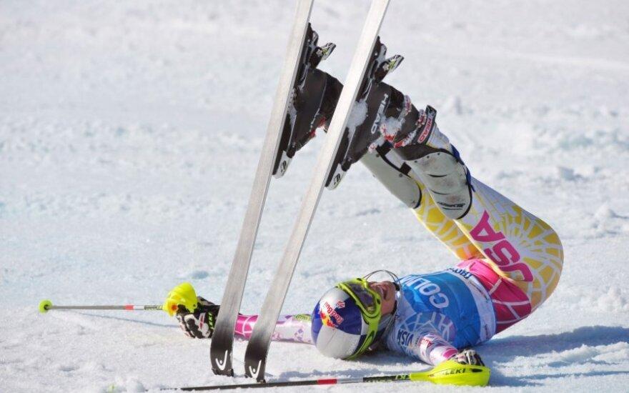 Lindsey Vonn džiaugiasi pergale