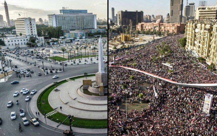 Tahriro aikštė Kaire 2010 ir 2020 metais
