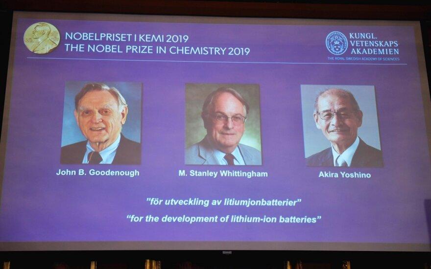 Paskelbti 2019-ųjų Nobelio chemijos premijos laureatai