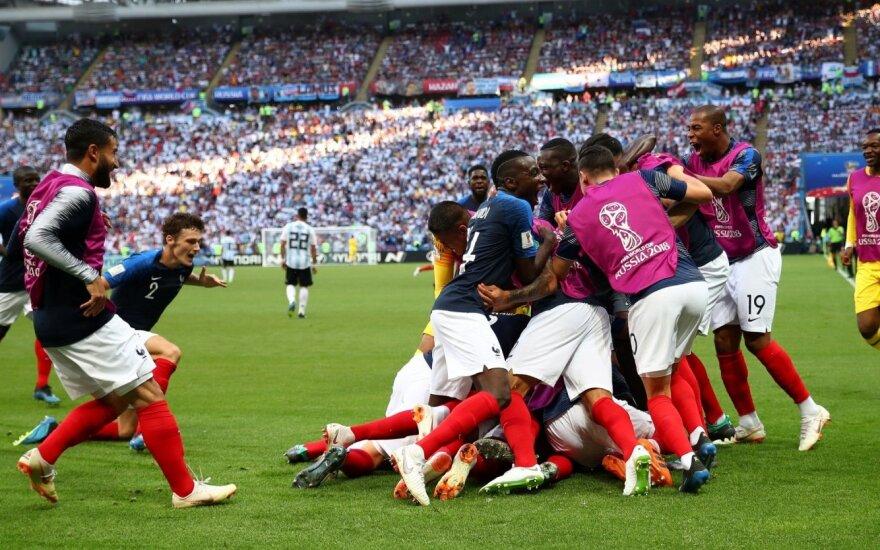 Septynių įvarčių trileris: 19-mečio prancūzo šou išmetė Argentiną su Messiu už borto