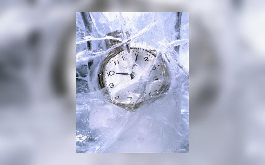 laikrodis, laikas, žiema, šaltis