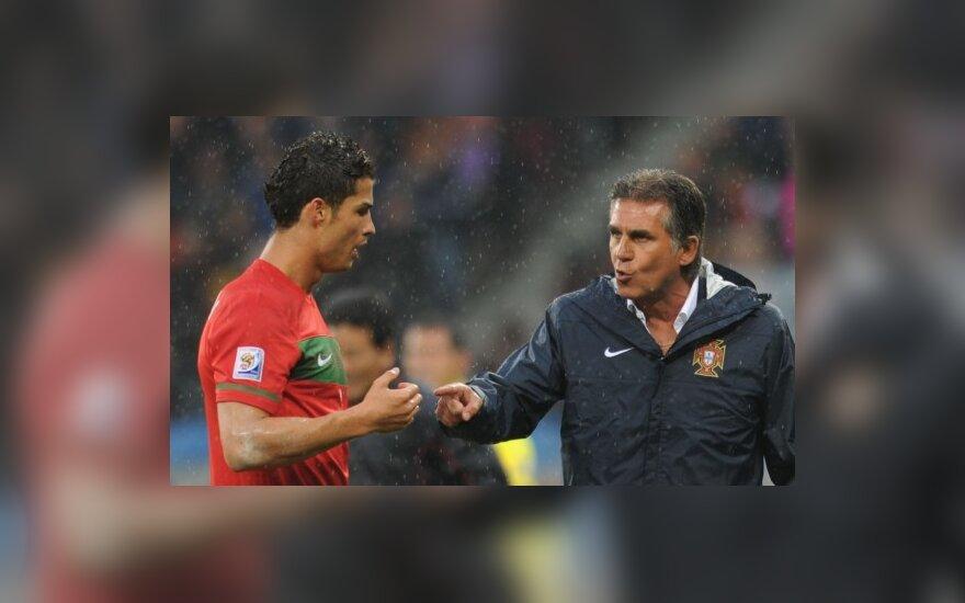 Carloso Queirozo patarimai Cristiano Ronaldo