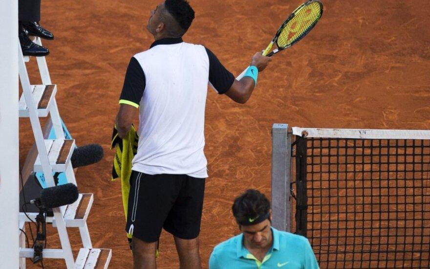 Nickas Kyrgiosas ir Rogeris Federeris