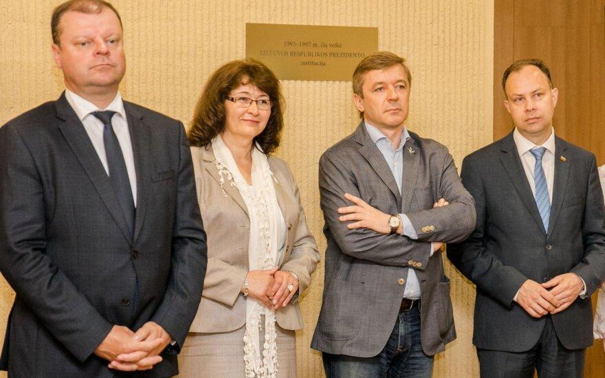 Saulius Skvernelis, Rima Baškienė, Ramūnas Karbauskis, Aurelijus Veryga