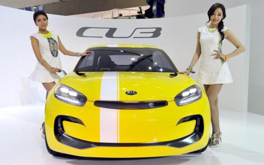 Kinai nebenori, kad merginos staipytųsi prie automobilių