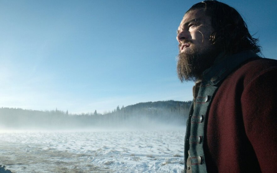 "Leonardo DiCaprio filme ""Hju Glaso legenda"" (""The Revenant"")"