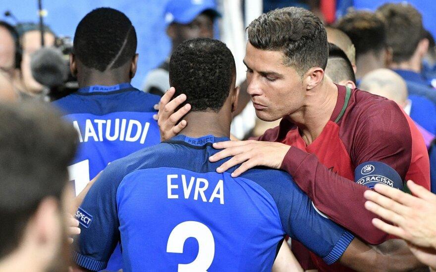 Patrice'as Evra, Cristiano Ronaldo