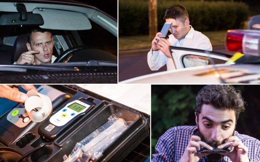Įkliuvęs girtas BMW vairuotojas nervus ramino rodydamas didįjį pirštą