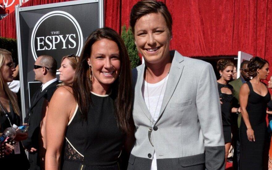 Sarah Huffman ir Abby Wambach