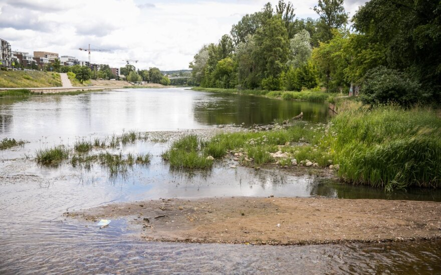 Hidrologas: vandens lygiai yra mažesni nei turėtų būti
