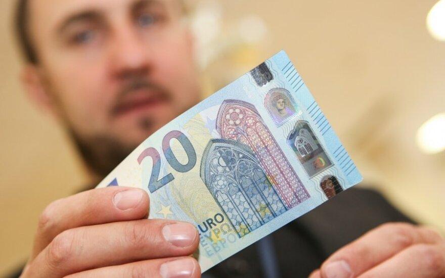 Lietuvos bankas pristato naująjį 20-ies eurų banknotą