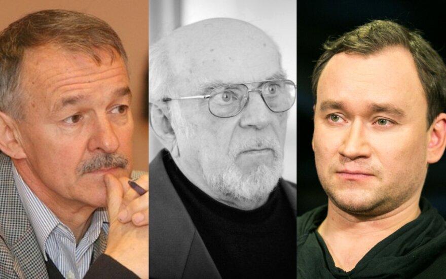 Saulius Vosylius, Petras Dimša ir Julius Žalakevičius/ Foto: Delfi