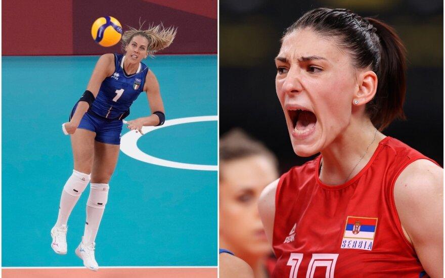 Indrė Sorokaitė (kairėje), Tijana Boškovič (Foto: AP/Scanpix)