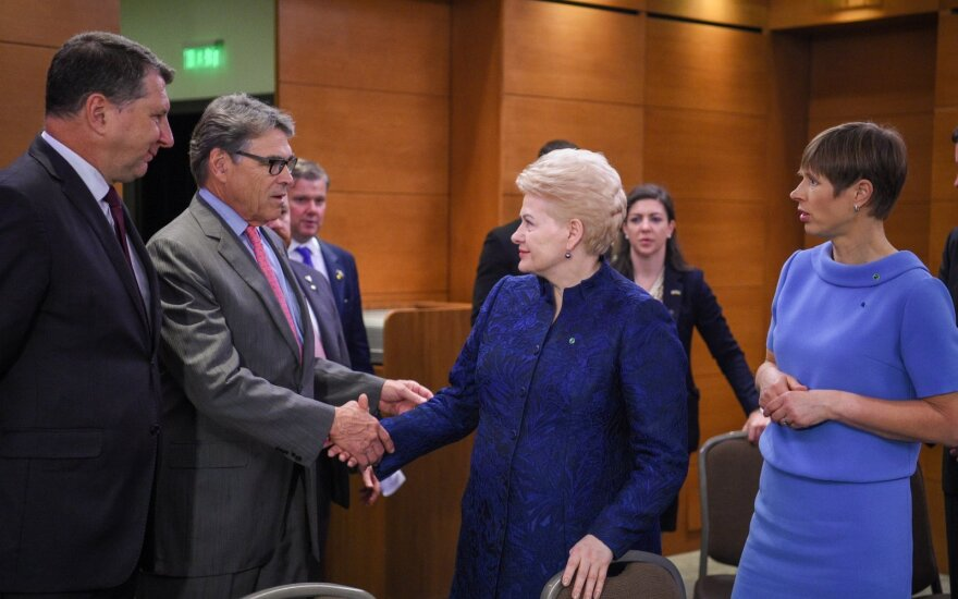 The Presidents of Baltics meet with Rick Perry