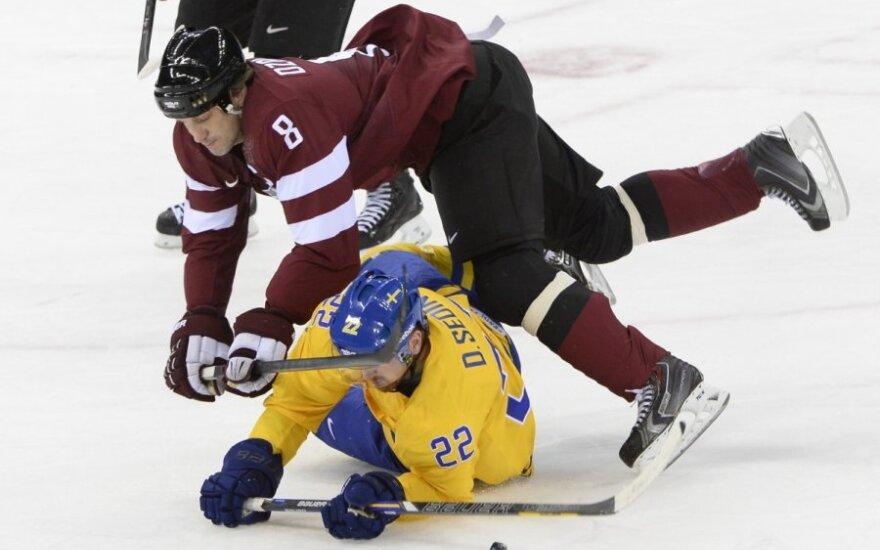 Švedijos ir Latvijos ledo ritulininkų dvikova