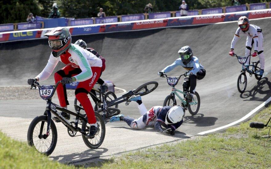 Europos BMX dviračių čempionate lietuviai į aštuntfinalį nepateko