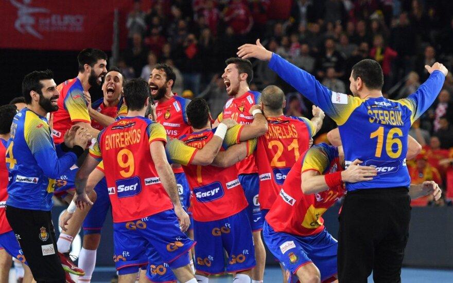 Europos rankinio čempionė Ispanijos rinktinė