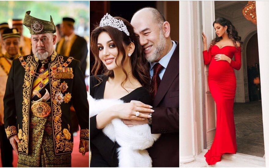 Rihana Oksana Veovodina ir Malaizijos sultonas Muhammad V