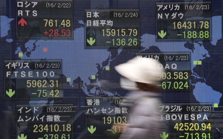 Azijos akcijų rinkos tęsia praėjusios savaitės augimą
