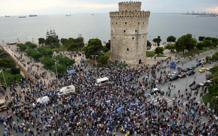 Protestai dėl susitarimo su Makedonija
