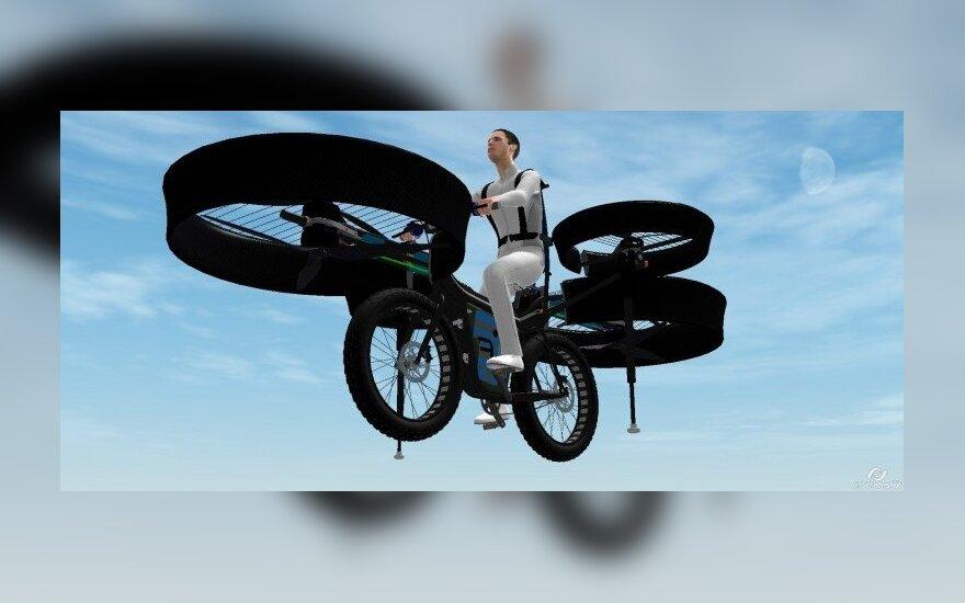 """Skraidančio dviračio """"FBike"""" projektas. gizmag.com nuotr."""