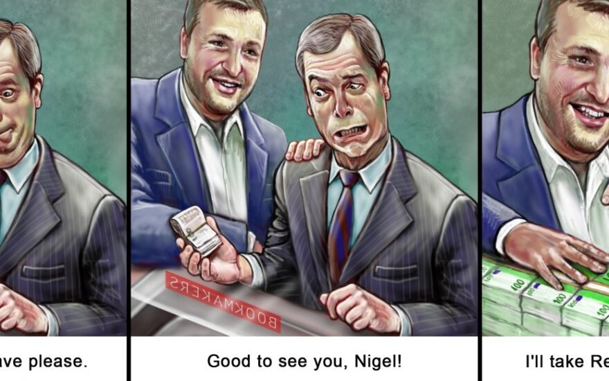 Antanas Guoga and Nigel Farage