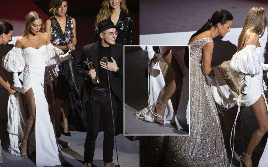 Gintarės Gurevičiūtės suknelė vos neiškrėtė pikto pokšto