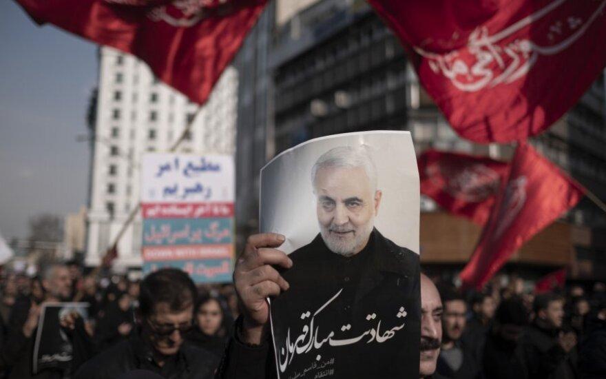 Protestas Irane po Qasemo Soleimani nužudymo