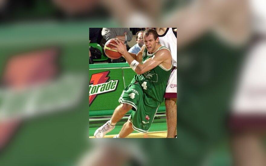 """Ramūnas Šiškauskas veržiasi (Trevizo """"Benetton"""")"""