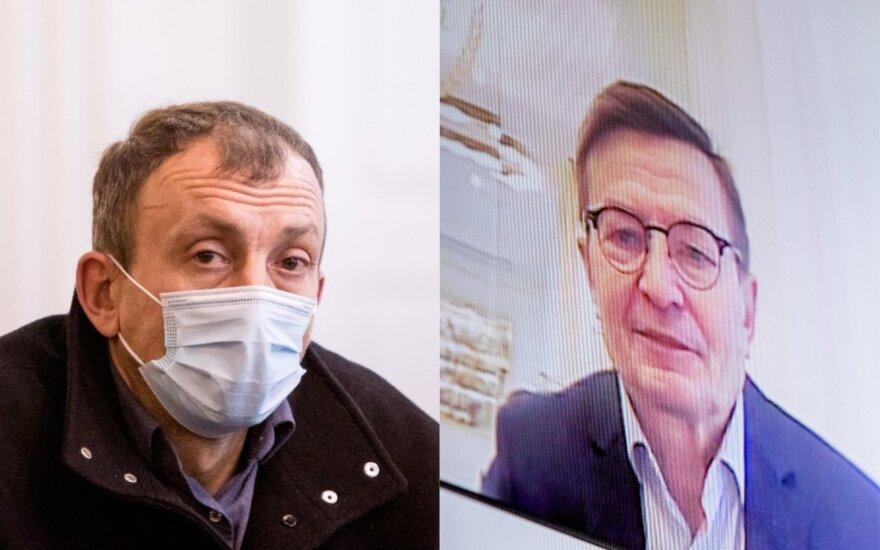 Gintaras Čekanauskas (dešinėje) ir Giedrius Valatkevičius