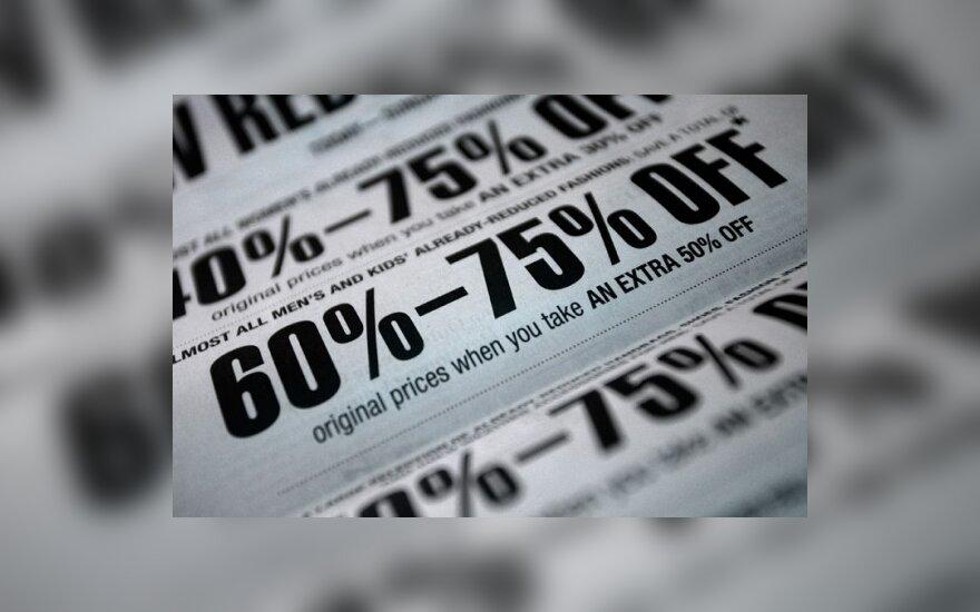 Mažesnės kainos parduotuvėse išbuvo neilgai