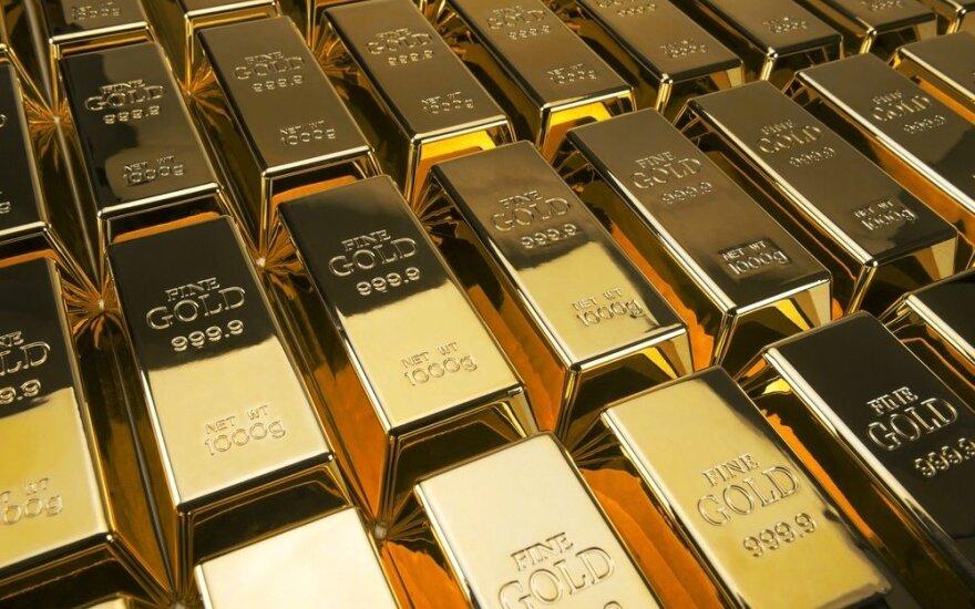 Auksas brangsta, akcijų kainos krenta