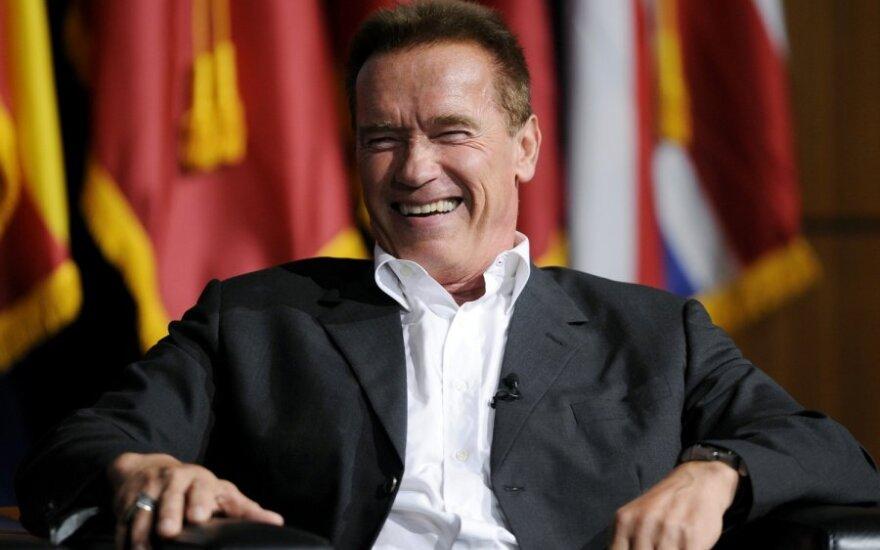 Brangsta aistros akimirką įamžinto A.Schwarzeneggerio nuotrauka