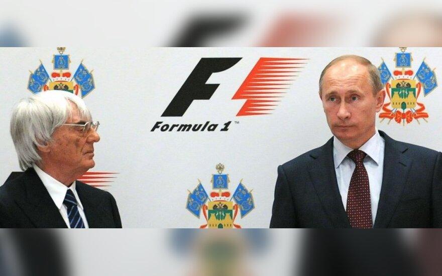 Bernie Ecclestone ir Vladimiras Putinas