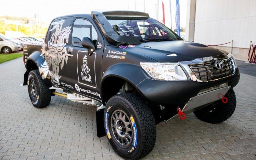 B. Vanagas pristatė automobilį, kuriuo lenktyniaus Dakaro ralyje