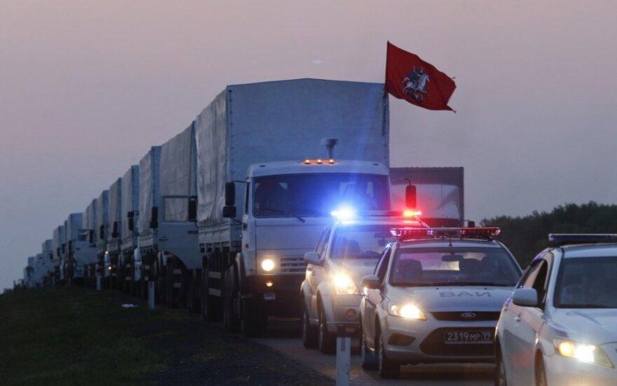 Ukraina: Rusijos konvojus keičia kryptį