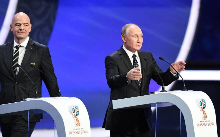 Pasaulio futbolo čempionato burtų traukimo ceremonija