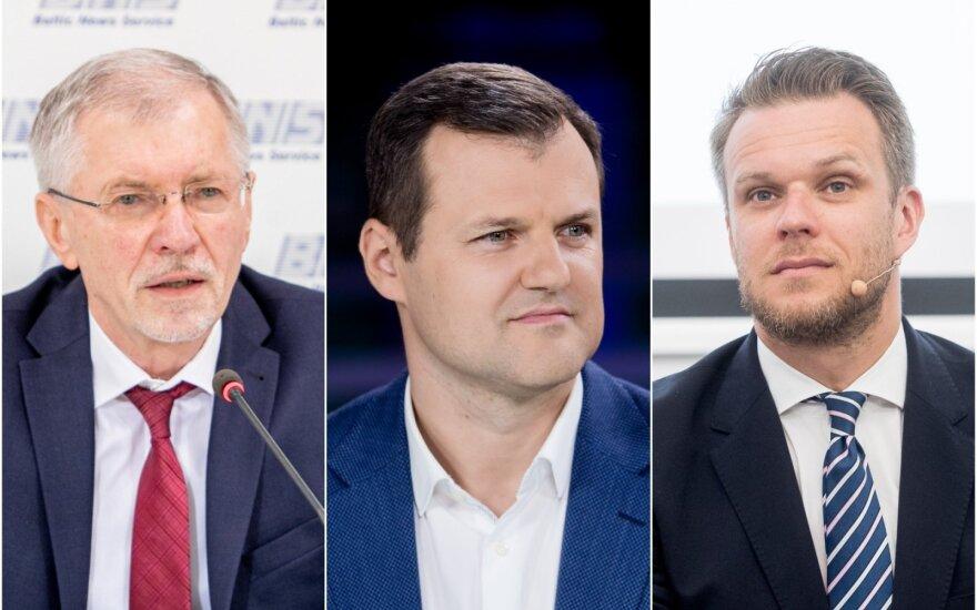 G. Kirkilas, G. Paluckas ir G. Landsbergis.