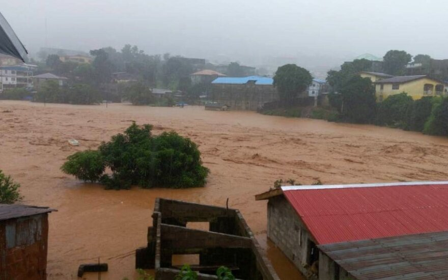 Potvynis ir nuošliauža Siera Leonėje