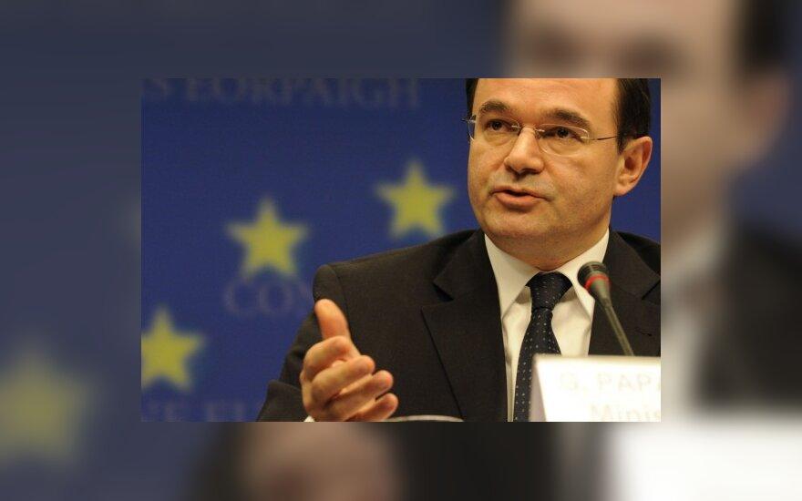 Georgas Papakonstantinas, Graikijos finansų ministras