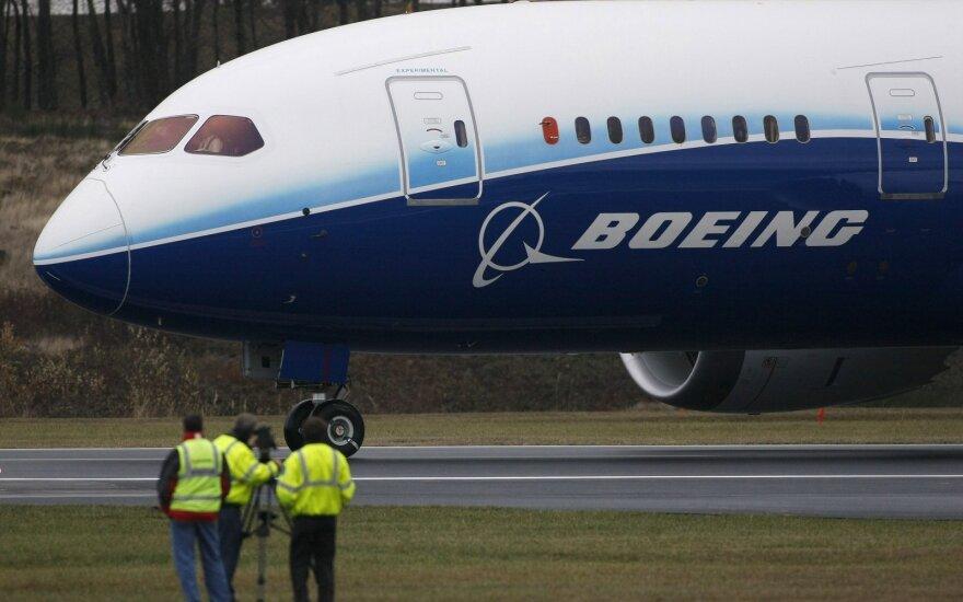 """""""Boeing"""" įvykdytų užsakymų skaičius trečiąjį ketvirtį augo 7,4 proc."""