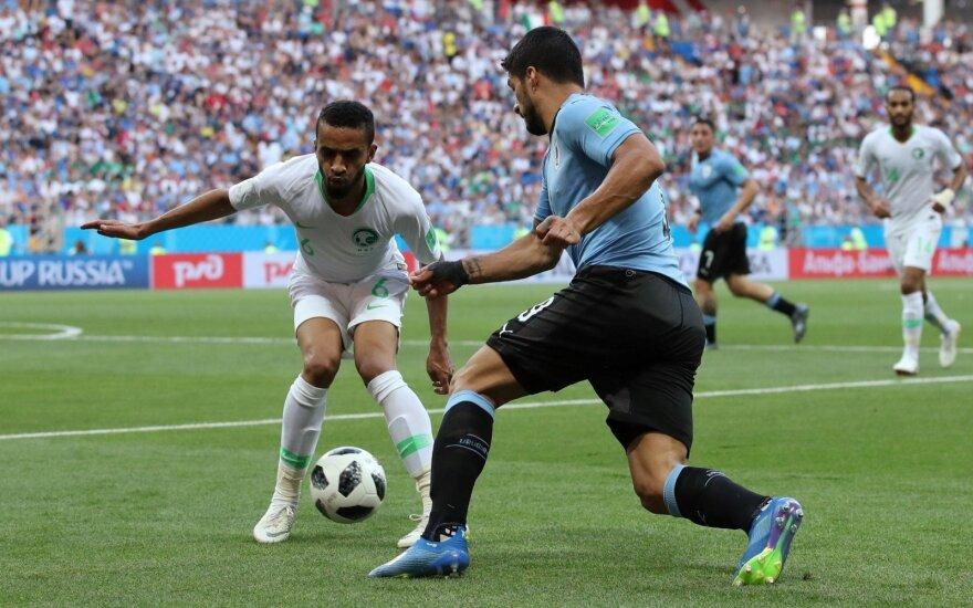 Suarezas atvedė Urugvajų į pasaulio čempionato aštuntfinalį