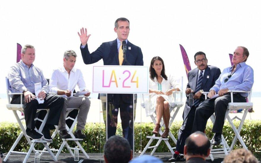 Los Andželo meras Ericas Garcetti prameša apie miesto sprendimą