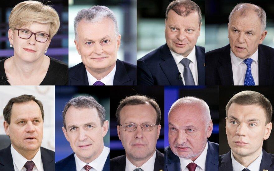 Oficialu: prie prezidentinių rinkimų starto stos devyni kandidatai